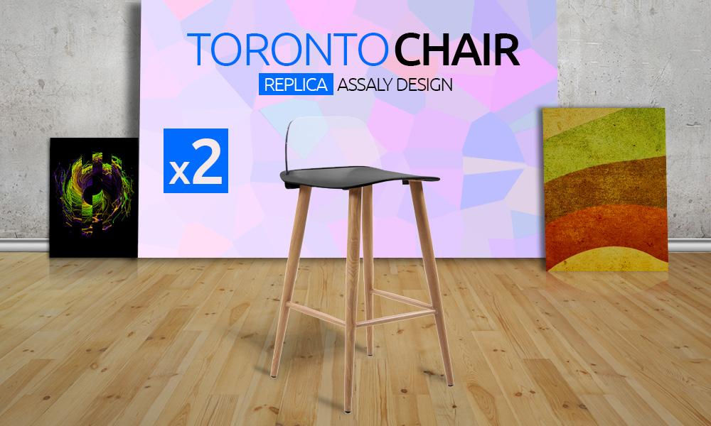 2x Toronto Retro Replica Designer Bar Stools Chairs Caf Home Modern Abs Ebay