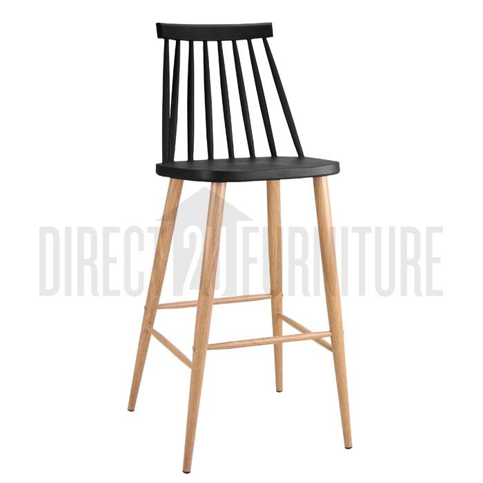 Discount 2x denver retro replica modern bar stool chairs scandinavian windsor ebay - Barstools denver ...
